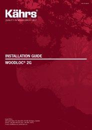 INSTALLATION GUIDE WOODLOC® 2G - Kährs