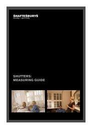 SHUTTERS: MEASURING GUIDE - Shaftesbury Shutters