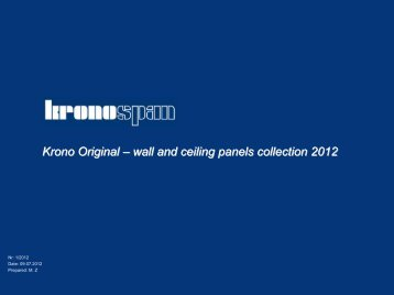 Krono Original – wall and ceiling panels collection 2012