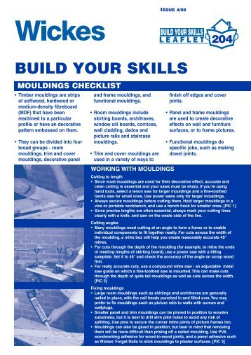 Build your skills - Wickes