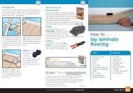 how to... lay laminate flooring - B&Q