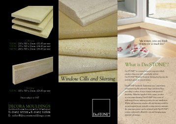 DecSTONE Window Cills and Skirting
