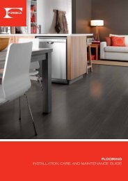 flooring installation, care and maintenance guide - Formica