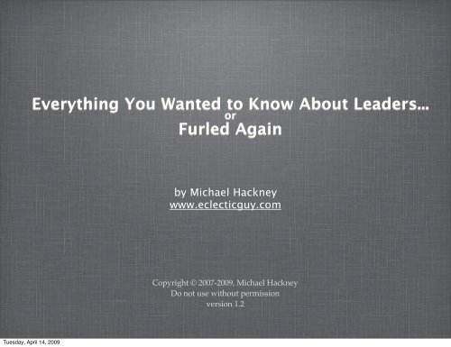 Everything You Wanted to Know About Leaders ... - EclecticGuy