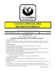GACETA OFICIAL DEL DISTRITO FEDERAL