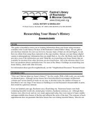 Researching Your House's History Research Guide