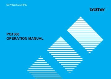 PQ1500 OPERATION MANUAL - Brother