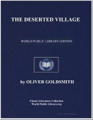 THE DESERTED VILLAGE - World eBook Library - World Public ...