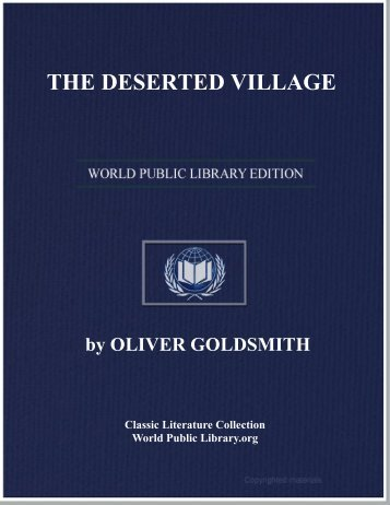 THE DESERTED VILLAGE - World eBook Library - World Public ...