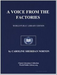 A VOICE FROM THE FACTORIES - World eBook Library - World ...