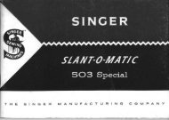 Singer Model 503 Slant-O-Matic Sewing Machine - ISMACS