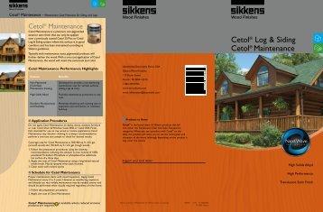 Cetol® Log & Siding Cetol® Maintenance - Lake States Lumber