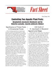 Controlling Two Aquatic Plant Pests - University of Maryland Extension