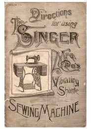 Vibrating Shuttle Sewing Machine Manual - ISMACS