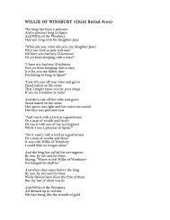 BALLAD LYRICS - Anais Mitchell