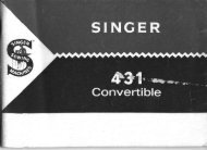 Singer 431 Convertible Sewing Machine - ISMACS