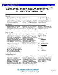 impedance, short circuit currents, and voltage distortion - Controlled ...