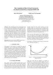 The Calculation of Short Circuit Currents in Overhead Ground ... - IPST