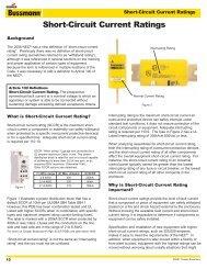 Short-Circuit Current Ratings - Cooper Industries