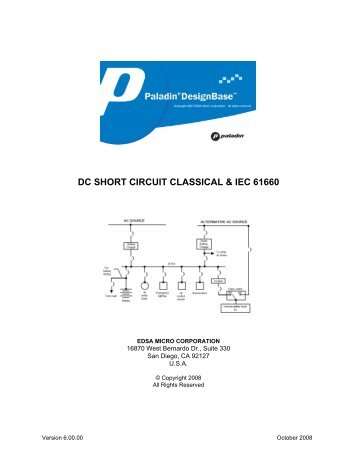DC Short Circuit - Power Analytics