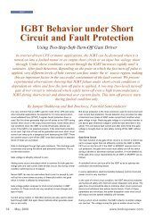 IGBT Behavior under Short Circuit and Fault Protection