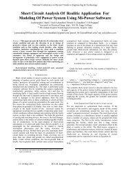 Short Circuit Analysis Of Realitic Application For Modeling Of Power ...