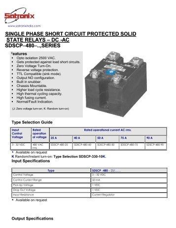 SDMA Card Shorted Solid State Relay Detector Data Sheet Watlow
