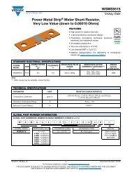 WSMS5515 Power Metal Strip® Meter Shunt Resistor, Very ... - Vishay