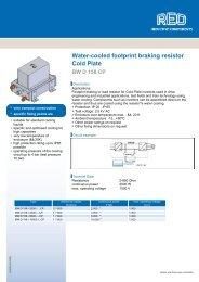 Water-cooled footprint braking resistor Cold Plate - REO-USA Inc.