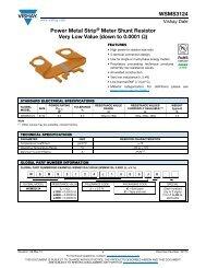 WSMS3124 Power Metal Strip® Meter Shunt Resistor Very ... - Vishay