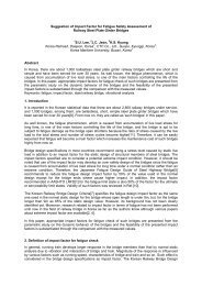 Suggestion of Impact Factor for Fatigue Safety Assessment of ... - UIC