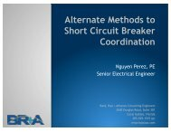 Alternate Methods to Short Circuit Breaker Coordination