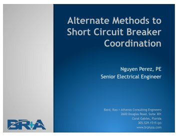 Alternate Methods to Short Circuit Breaker Coordination
