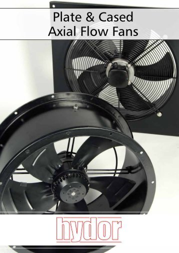 Plate & Cased Axial Flow Fans - Hydor