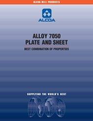 ALLOY 7050 PLATE AND SHEET - Alcoa