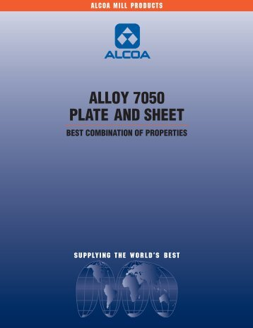 ALLOY 7050 PLATE AND SHEET - Alcoa