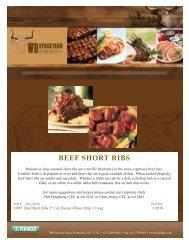 BEEF SHORT RIBS - J. Kings Food Service Professionals