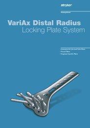 VariAx Distal Radius Locking Plate System - Stryker