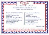 Braised Short Ribs in Chocolate Sauce - Handley Cellars