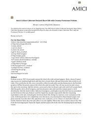 Amici Cellars Cabernet Braised Short Rib with Creamy Parmesan