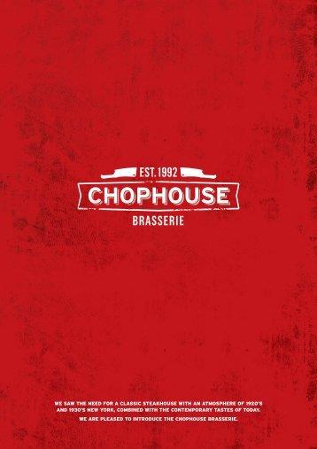 Dinner Main Menu - Chophouse
