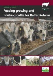 Feeding growing and finishing cattle for Better Returns - Eblex