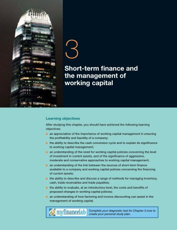 Short-term finance and the management of working capital