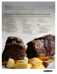 BRAISED SHORT RIBS WITH VEGETABLES - Turbochef