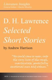 DH Lawrence: Selected Short Stories - Humanities-Ebooks