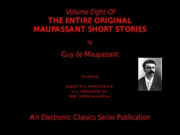 Guy de Maupassant complete short stories volume 8 - Penn State ...