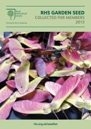 RHS GaRden Seed - Royal Horticultural Society
