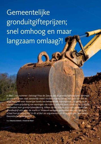 Gemeentelijke gronduitgifteprijzen; snel omhoog en maar langzaam omlaag?!