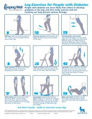 Leg Exercises for People with Diabetes