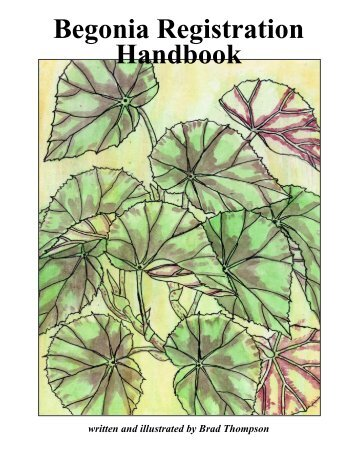 Begonia Registration Handbook - American Begonia Society
